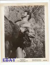 Steve Reeves barechested fights bull VINTAGE Photo Hercules