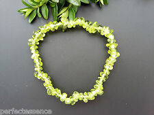 Stunning Genuine Peridot Crystal Chip Bead Bracelet - Protection - New Starts