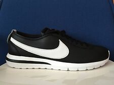 100% Authentic NIKE ROSHE CORTEZ NM SP QS Mens 12 BLACK WHITE NIKELAB 806952 010