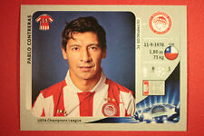PANINI CHAMPIONS LEAGUE 2012/13 N.125 CONTRERAS OLYMPIACOS BLACK BACK MINT!