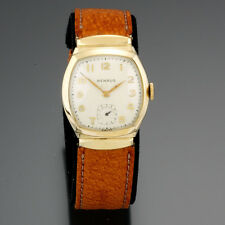 Benrus 15 Jewel Covered Lug Yellow Rolled Gold Plate Man's Watch CA1950s