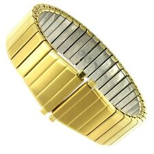 17-22mm Speidel Gold Tone Tapered Twist-o-Flex Stainless Steel Watch Band 1530