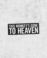 "The Pixies Lyric Sticker! ""Monkey Gone to Heaven"" doolittle surfer rosa, nirvana"