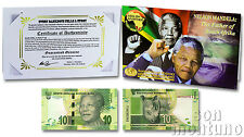 NELSON MANDELA: The Father of South Africa - 10 Rand Unc Banknote 2012 P-133