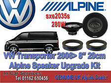 "VW Transporter 2006  Alpine Front Door 8"" 20cm Speaker Upgrade Set 280W kit"