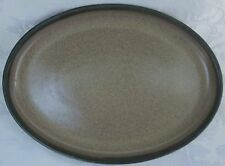 Denby Langley Made In England Romany Brown Oval Serving Platter Mint