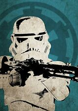 STAR Wars Stormtrooper POSTER invecchiato vintage pop art stile a3
