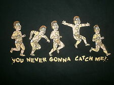 GREASED UP DEAF GUY T SHIRT You Are Never Gonna Catch Me Family Guy Naked Chase
