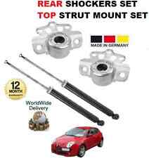 FOR ALFA ROMEO MITO 955 2008   NEW 2x REAR SHOCKERS + TOP STRUT MOUNTING  SET