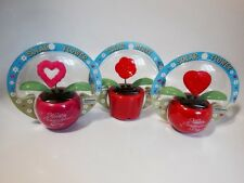 Solar Heart Flower Happy Valentine's Day Dancing Lot Of 3(Red & Pink)