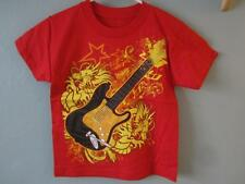 NEW ELECTRIC GUITAR GRAPHIC TEE KIDS SIZE M MEDIUM 68ZD