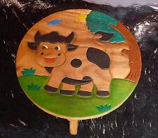 Kindertisch H.44cm Tisch aus Holz für Kinder Sitzgruppe, Holz, kleine Kuh