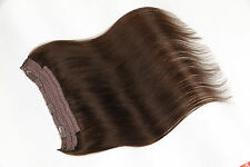 "#2 16"" 100g Halo Invisible Wire Flip In Clip In 100% Remy Human Hair Extensions"