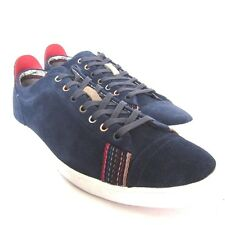 W-142986 New Paul Smith Vestri Galaxy Silky Blue Suede Sneaker Size Eur 42 US-9