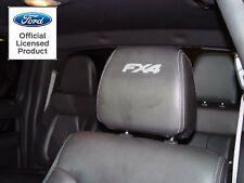 2004-2014 FORD F-150 FX4 HEADREST DECALS - ONLY FOR LEATHER SEATS VINYL STICKERS