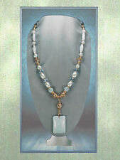 Artiagemma Azure Lucite & Crystal Pearl Bead Pendant Necklace 5710