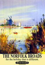 The Norfolk Broads for the Holiday that is Different Rail Travel  Poster Print