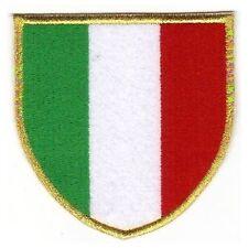 [Patch] SCUDETTO ITALIA bordo oro cm 8,5 x 8,5 toppa ricamata termoadesiva -391