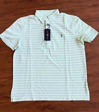 RALPH LAUREN Mens Hamton Knit Oxford Polo Key Lime L NWT $93