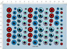 Colorful eye balls contact lenses Model Kit Water Decal