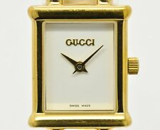 Auth Used GUCCI 1800L Women's watch  White Dial w/three bracelet  #2101