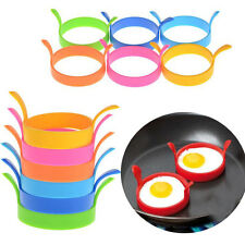 4x Round Ring Fried Egg Pancake Mold Silicone Kitchen Cooking Mould Gadget BOS