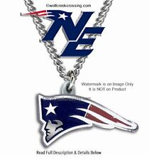 "NEW ENGLAND PATRIOTS NECKLACE for MALE OR FEMALE - 24"" NFL JEWELRY FREE SHIP CB*"