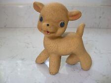 vintage rubber sqeeze toy Rempel Enterprises lamb SO CUTE 50's NICE