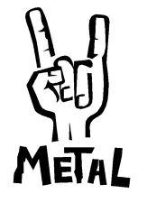 Heavy Metal Hang Loose  Vinyl Decal / Sticker ROCK N ROLL HEAVY METAL PUNK