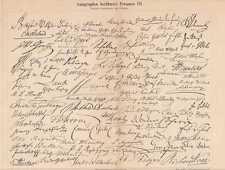 AUTOGRAPHEN II Autogramme Handschriften ORIG Stich 1897
