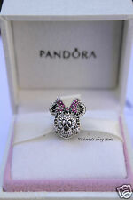 NEW! Authentic Pandora Disney Sparkling Minnie Portrait Charm USB794500