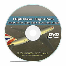 Advanced Flight Simulator, Learn How To Fly, Flight Trainer, DVD, + All Planes
