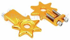"BMX bicycle star spur chain tensioners tensioner for 3/8"" axles (PAIR) - GOLD"