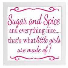Autocollant Vinyle fits cadre 20 x 20 cm sucre et épices et tout NICE-les filles