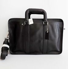 NWT Coach 70374 Embassy Leather Briefcase Carryall/Shoulder Bag ~ Black