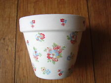 Hand Painted + Decoupaged Flower Pots 11 cm Cath Kidston Spring Flowers 1