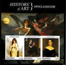 Micronesia 2013 MNH History of Art Neoclassicism II 3v M/S Cabanel Jacques Amans