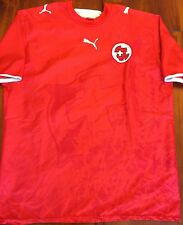 Puma Switzerland 2006 World Cup Home National Soccer Jersey Men's L Suisse