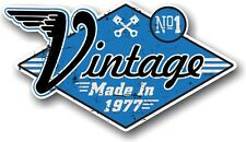 VINTAGE MADE IN 1977 Aged Retro Cafe Racer Style Vinyl Motorcycle car sticker