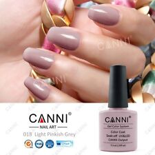 018 CANNI LIGHT PINKISH GREY BEIGE UV LED SOAK OFF GEL COLORS NAIL ART 7.3ml UK