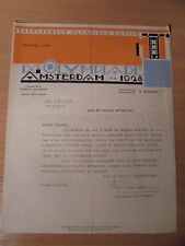IX OLYMPIC GAMES AMSTERDAM 1928 ORIGINAL DOCUMENT - ULTRA RARE