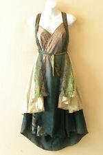 """M348 Reversible Vintage Silk Magic 30"""" Length Wrap Skirt Halter Tube Dress + DVD"""
