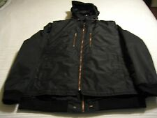 Robert Comstock Vertical Black Jacket with Vest and Rolled up Hood Sz: 3XT  NWT