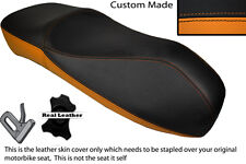 BLACK & ORANGE CUSTOM FITS PIAGGIO VESPA GT S 125 250 300 CURVY HIGH DUAL SEAT
