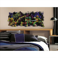 TEENAGE MUTANT NINJA TURTLES trouble wall sticker MURAL Raphael Leonardo Mikey