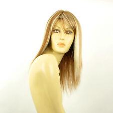 Perruque femme mi-longue blond foncé méché blond clair RAPHAELLA F27613
