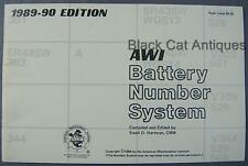 1989/90 AWI American Watchmakers Institute Battery Number System Instr. Booklet