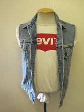 "VINTAGE Retro Grunge Levi's Red Tab Denim Gilet Size M 36"" UK 10-12 Euro 38-40"