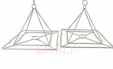 "2PCS 10"" W STAINLESS STEEL SQ CHANDELIER FRAME DIY WEDDING  PARTY DECORATION"