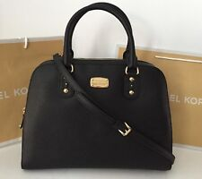 Michael Kors LARGE Saffiano Lthr Satchel In BLACK,nwt